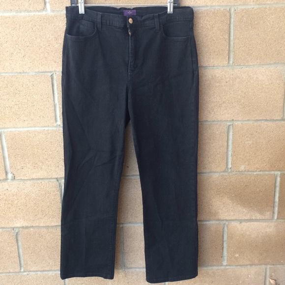 NYDJ Denim - NYDJ Black Jeans Lift tuck Size 14 Studded Bling